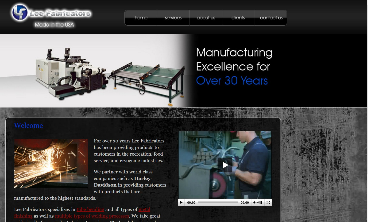 Lee Fabricators (Temple, GA) Web Design Project