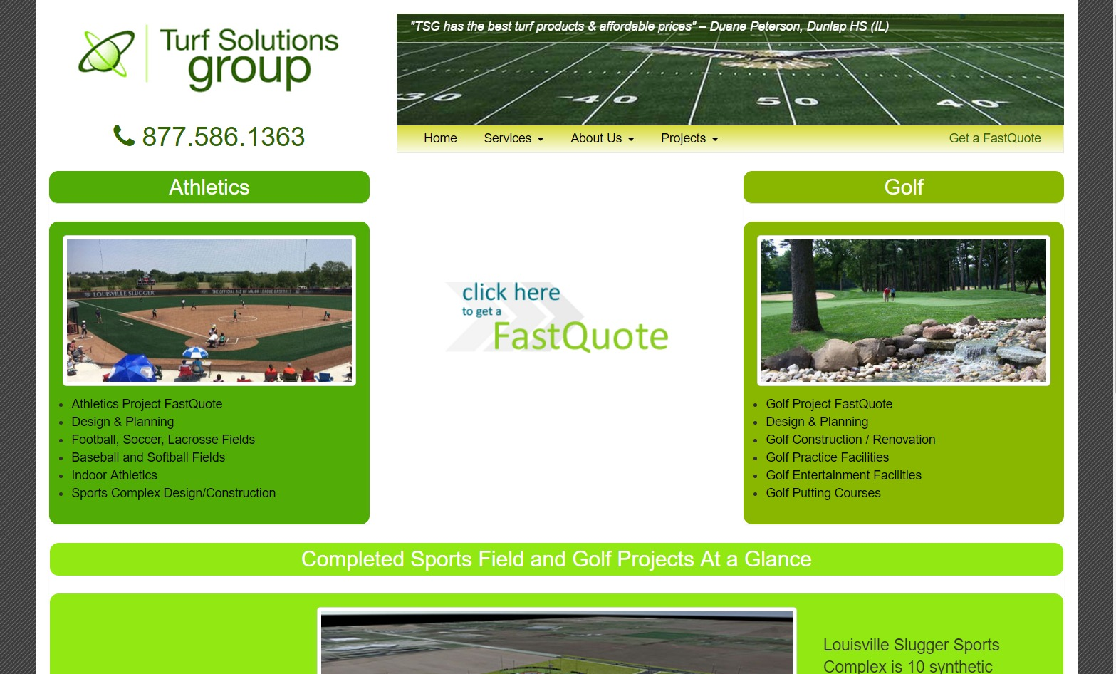 Turf Solutions Group (Peoria, IL) Web Design Project