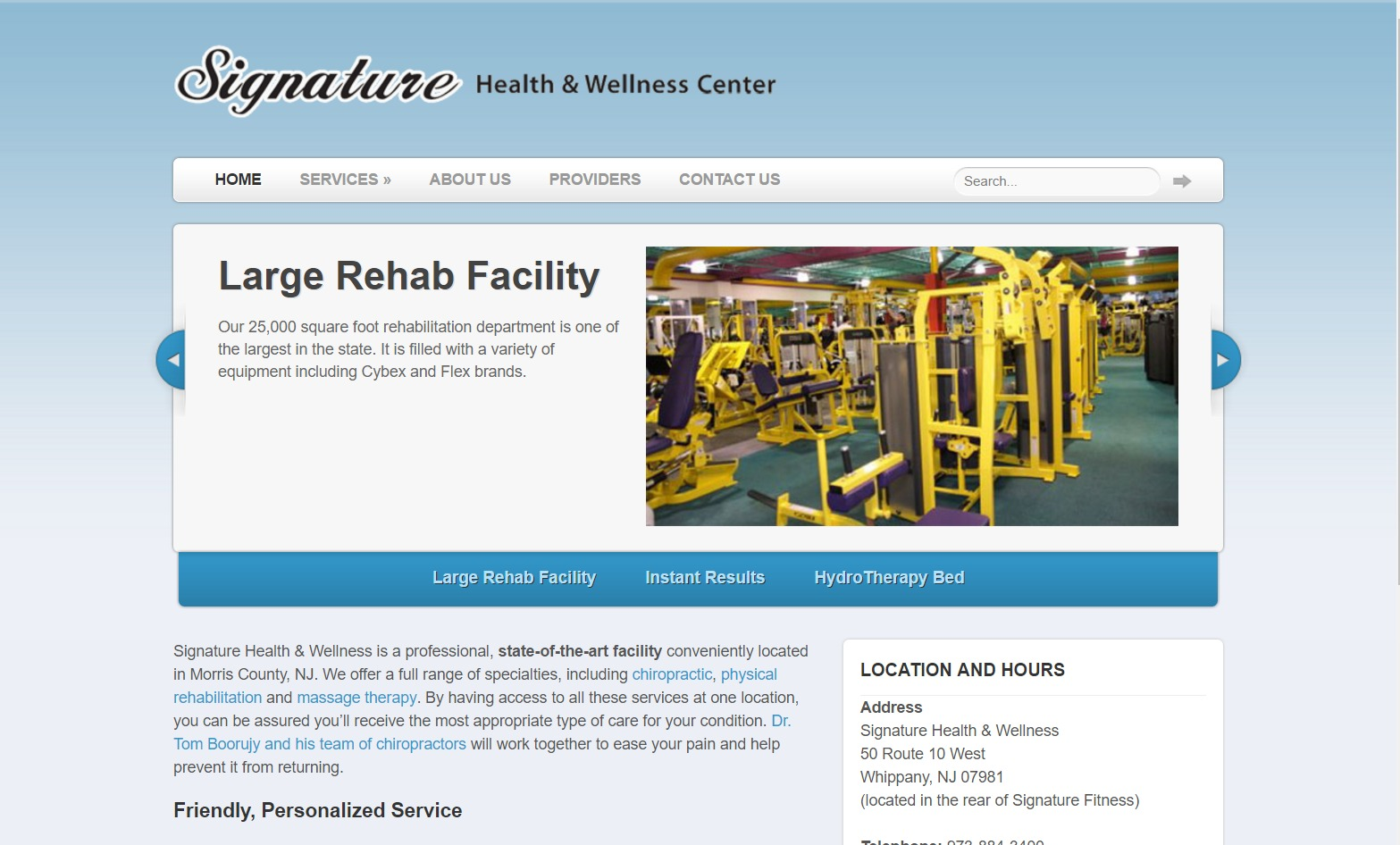 Signature Health & Wellness (Whippany, NJ) Web Design Project