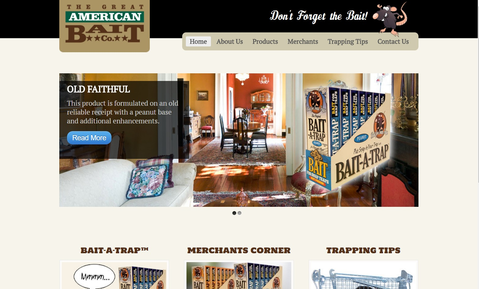 Great American Bait Co. (Duluth, GA) Web Design Project