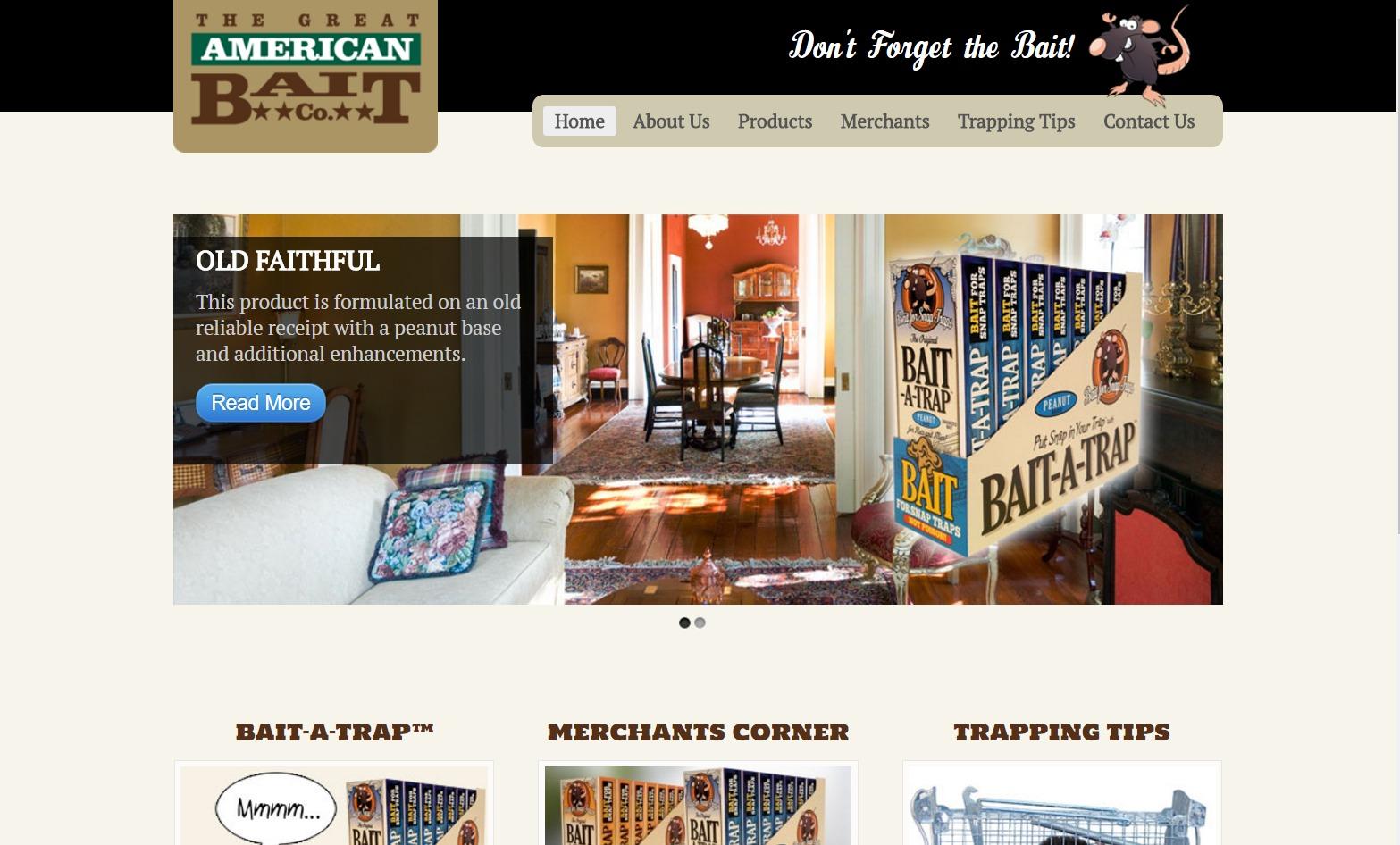 Great American Bait Company Web Design | Decatur, GA