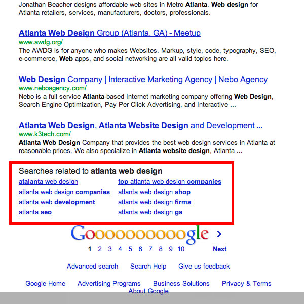 Using Google's Related Searches as a Keyword Tool