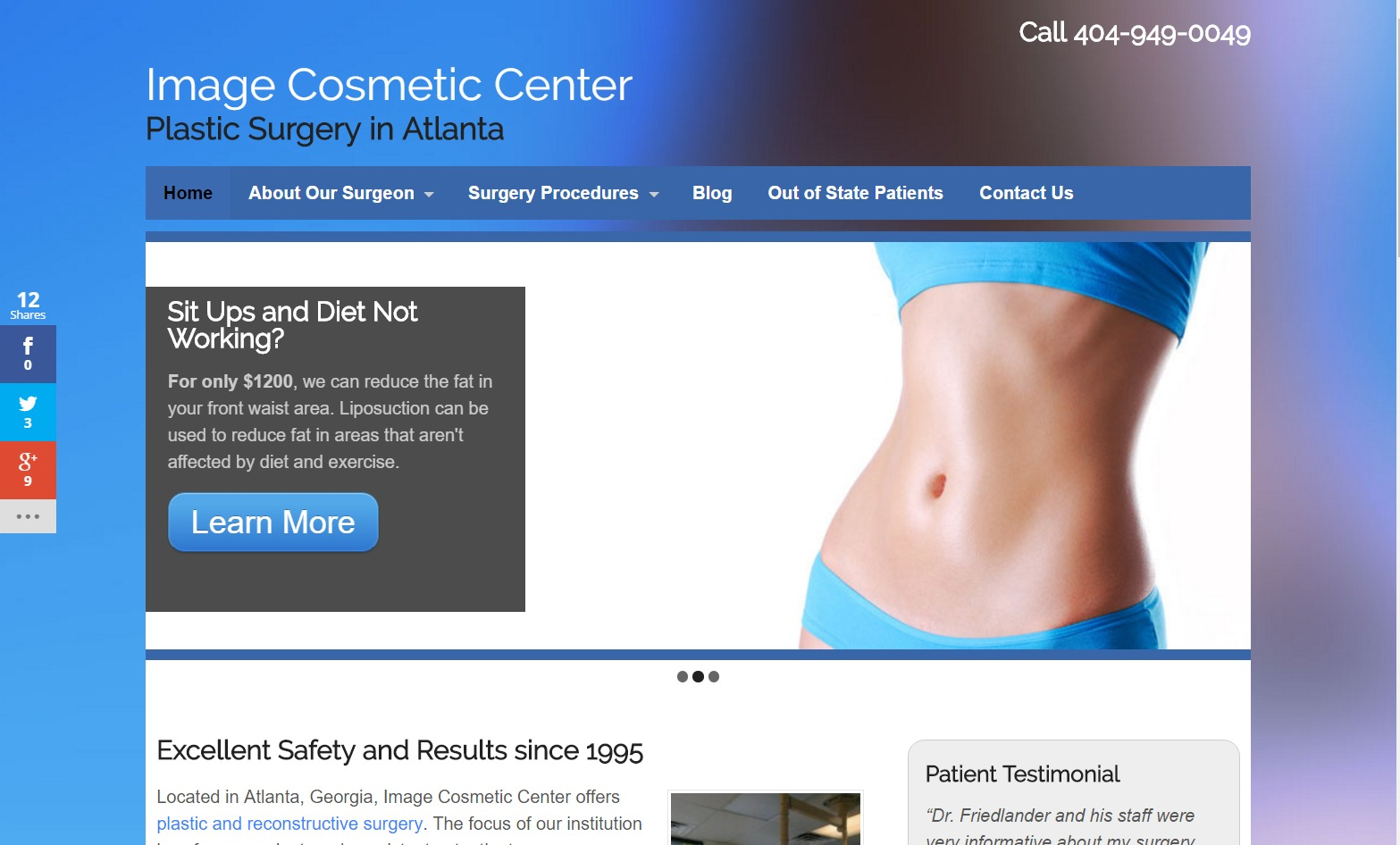 Image Cosmetic Center (Atlanta, GA) Web Design Project