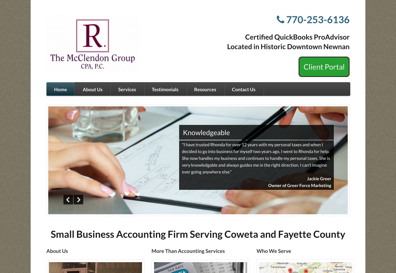 The McClendon Group (Newnan, GA) Web Design Project