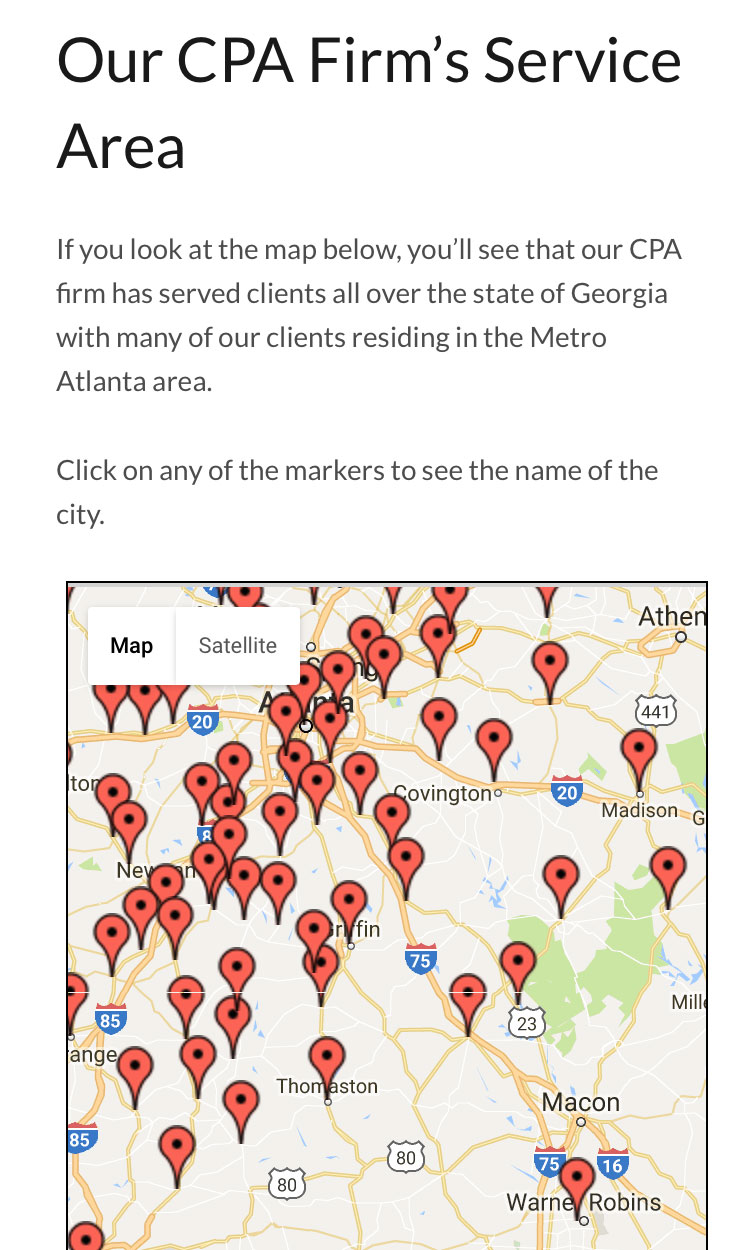 Responsive Client Map