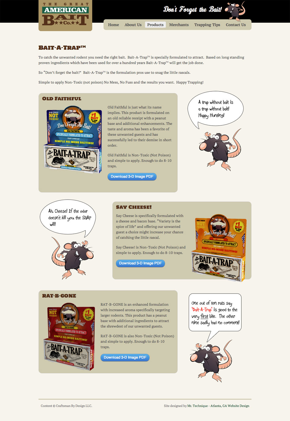 great-american-bait-products-page-web-design