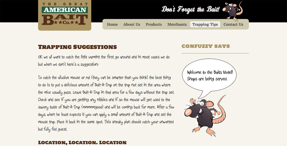 great-american-bait-webpage-design-different-font
