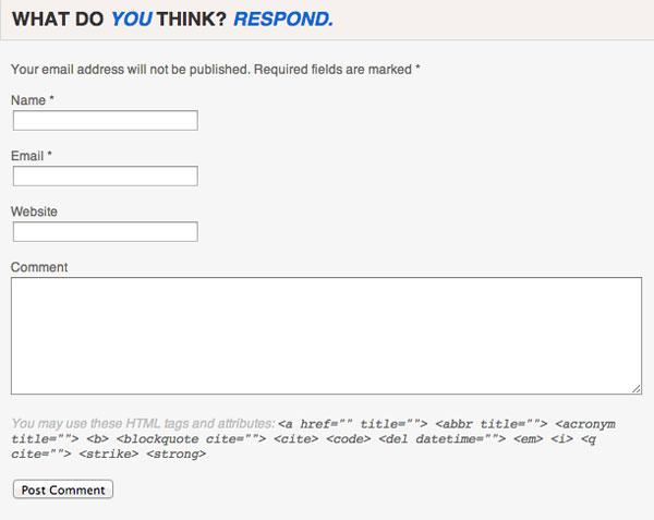 WebProNews Comment Form