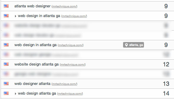 Week 9 Web Design Atlanta GA Google Rankings