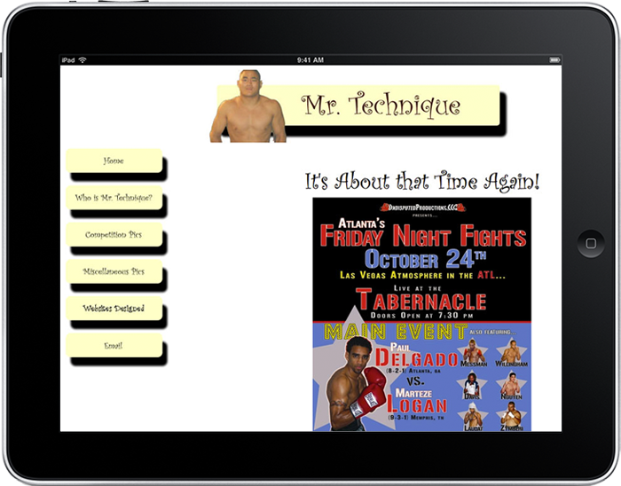 2002 Mr. Technique Website Design (Static HTML) created by Tom Nguyen in New York City