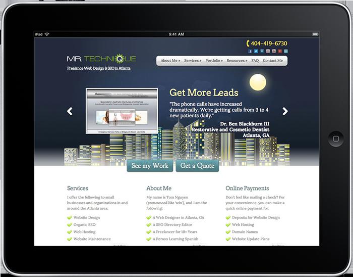 2011 Mr. Technique Web Design (Built with WordPress)