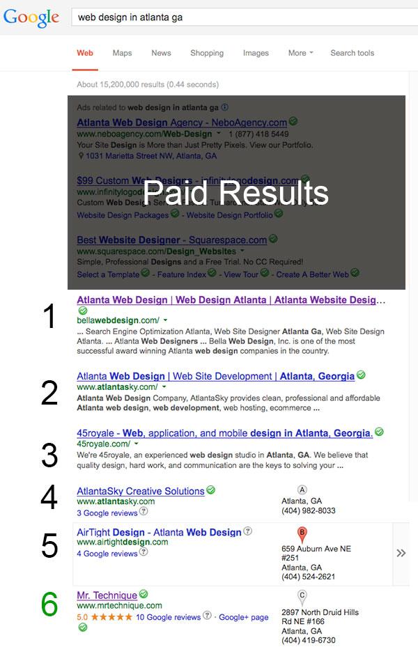 google-serp-screenshot-for-web-design-in-atlanta-ga