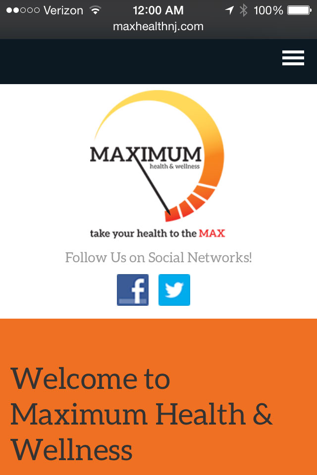 max-health-mobile-web-design-screenshot-1
