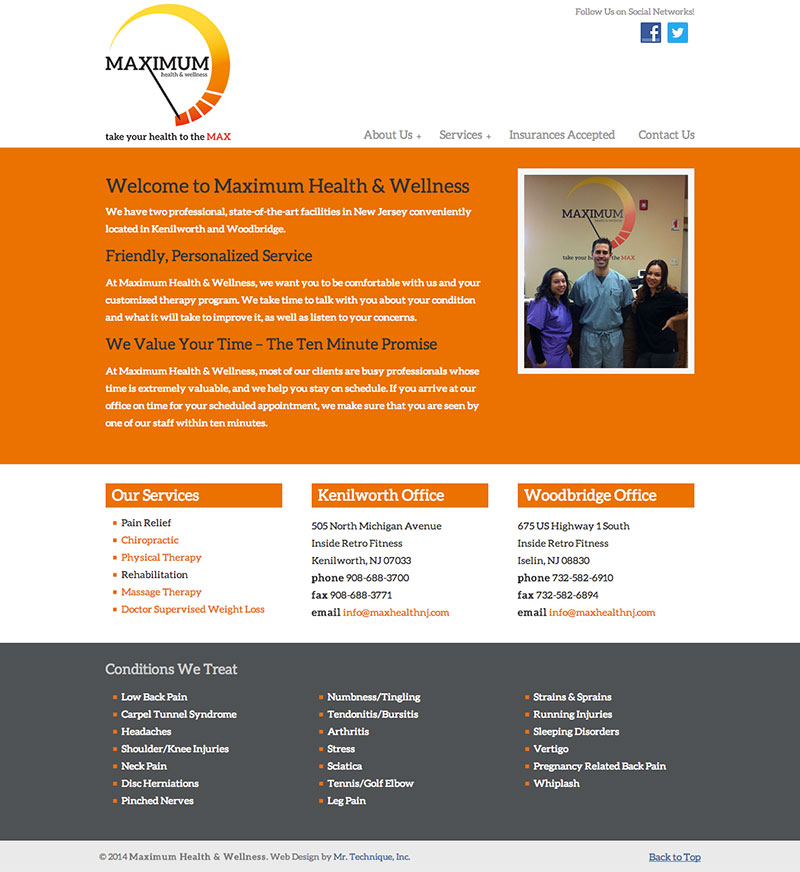 maximum-health-wellness-web-design