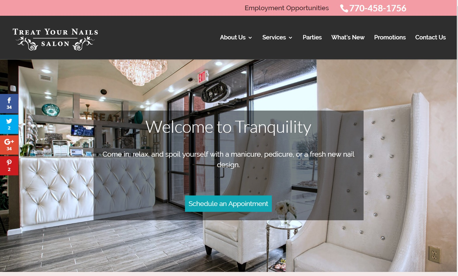 Treat Your Nails (Doraville, GA) Web Design