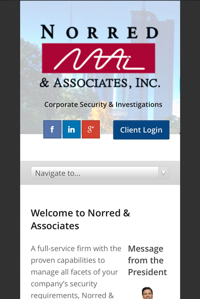 Norred & Associates (Atlanta, GA) Mobile Screenshot