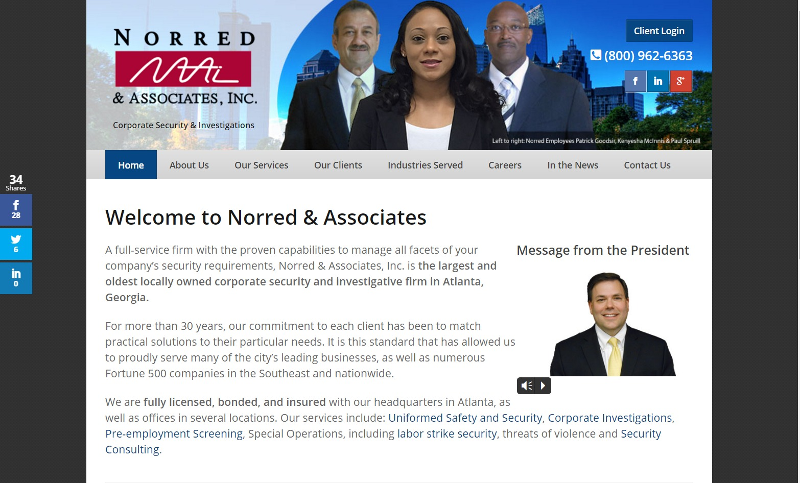 Norred & Associates (Atlanta, GA) Web Design