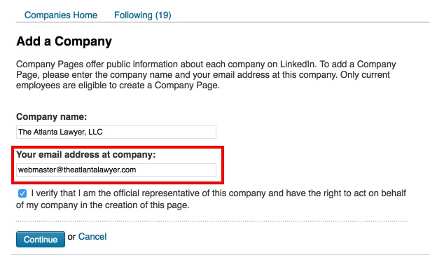 How to create a LinkedIn Company Page (Step 2)