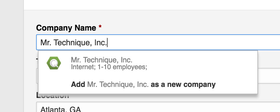 If you've created a LinkedIn company page, it will pop up when you type it in on your personal profile.