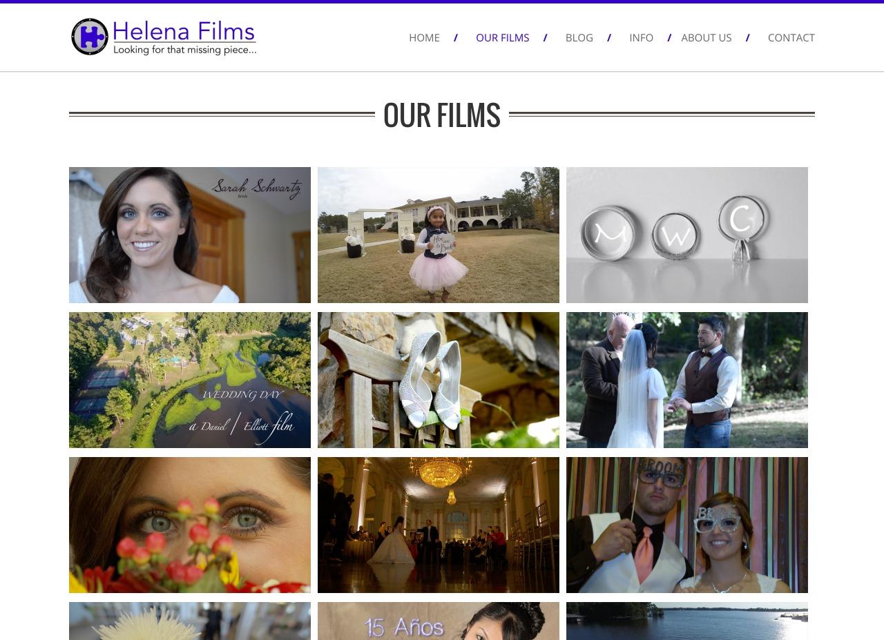 Helena Films Web Design