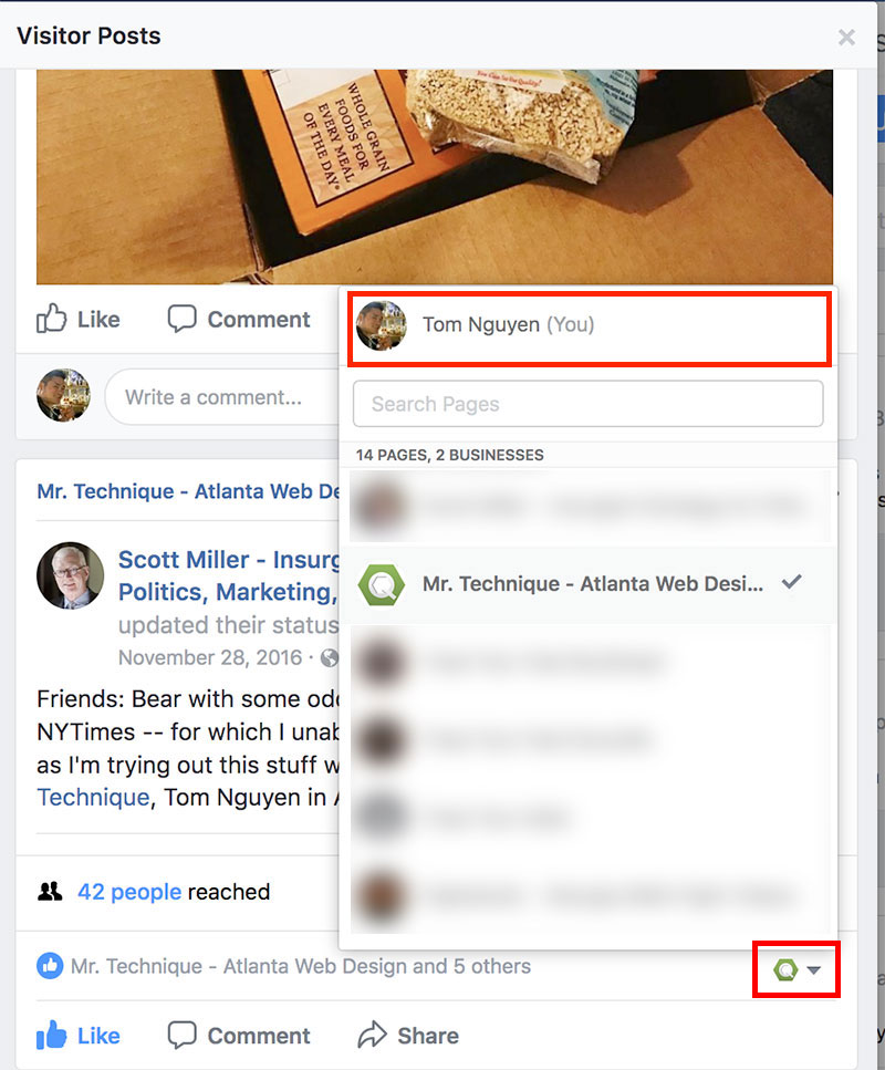 Comment Page 2 >> How To Post And Comment As Yourself On Your Facebook Company Page