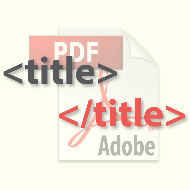 How to Edit a PDF File's Title for Google Searches