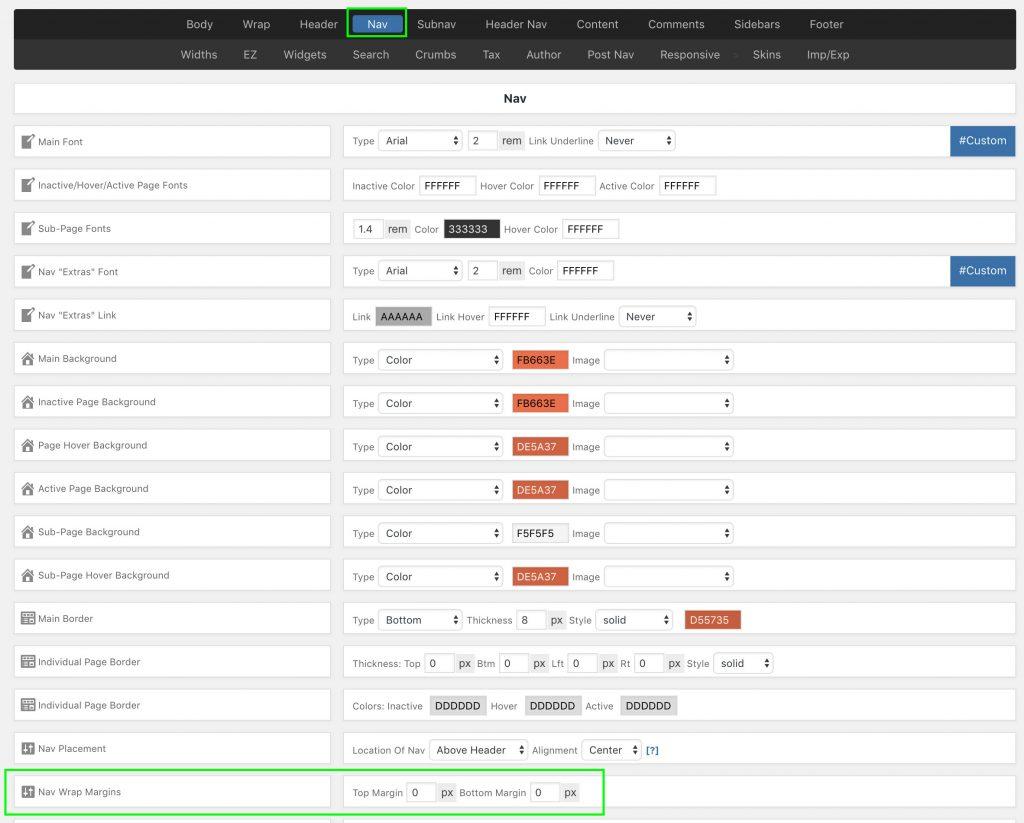 Dynamik WordPress Theme Nav Menu Settings for Beaver Builder Plugin
