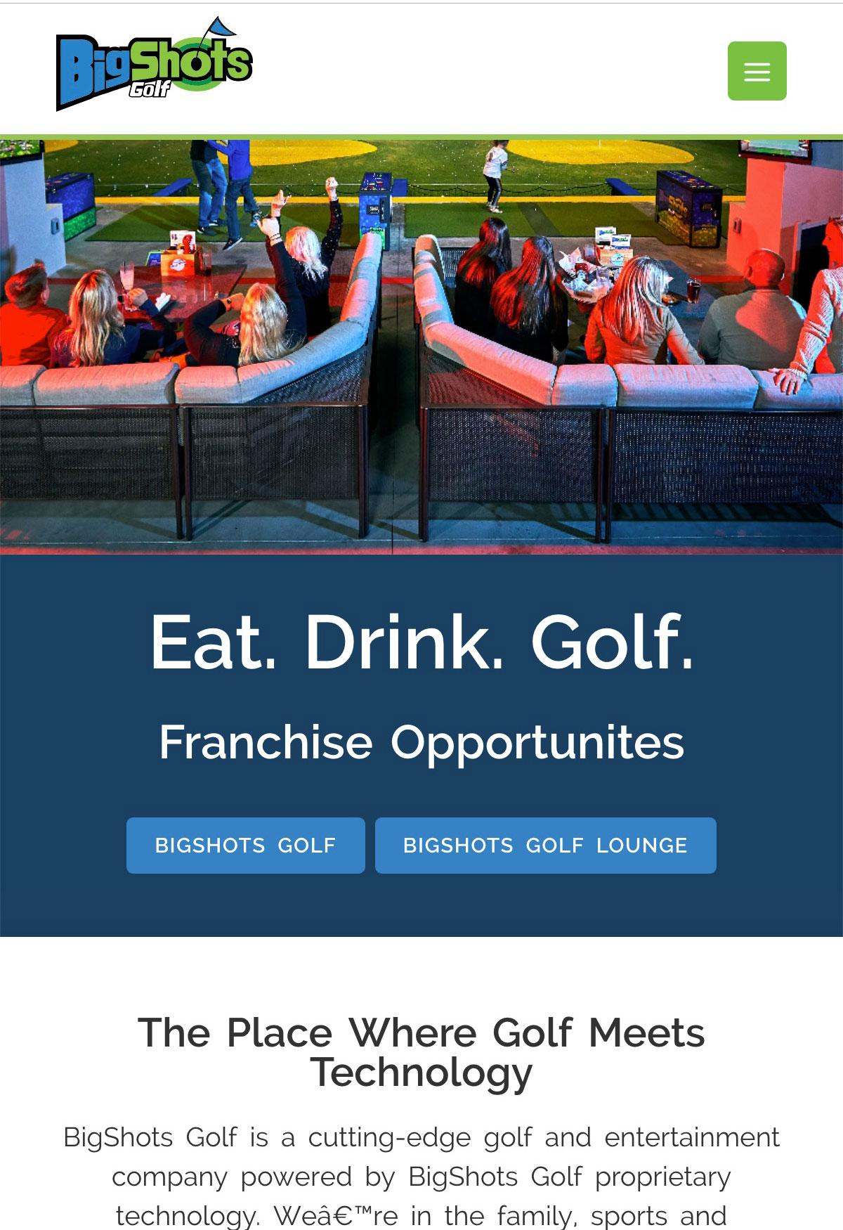 BigShots Golf Mobile Screenshot