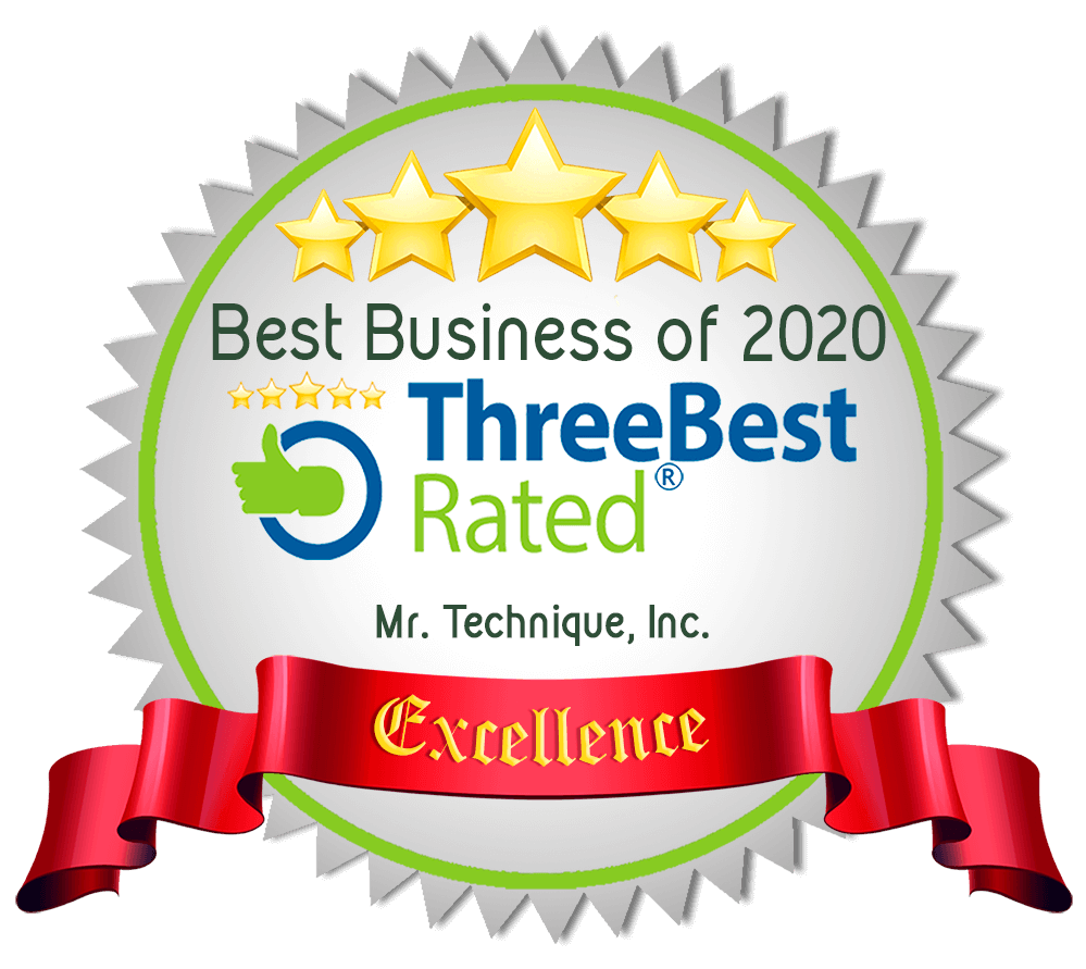 Mr. Technique, Inc. ThreeBest Rated Best Business of 2020 Seal