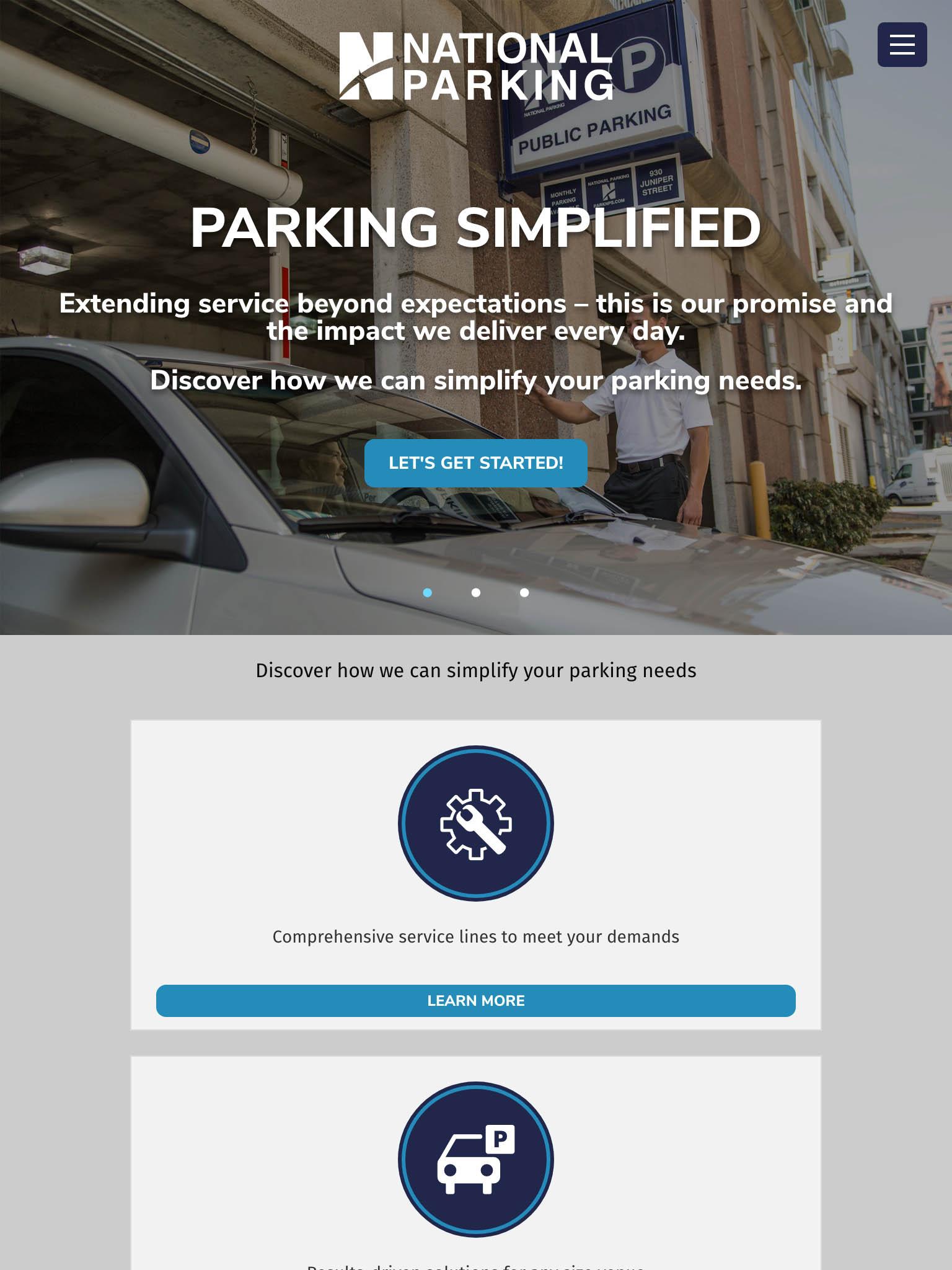 national-parking-atlanta-tablet-web-design-screenshot