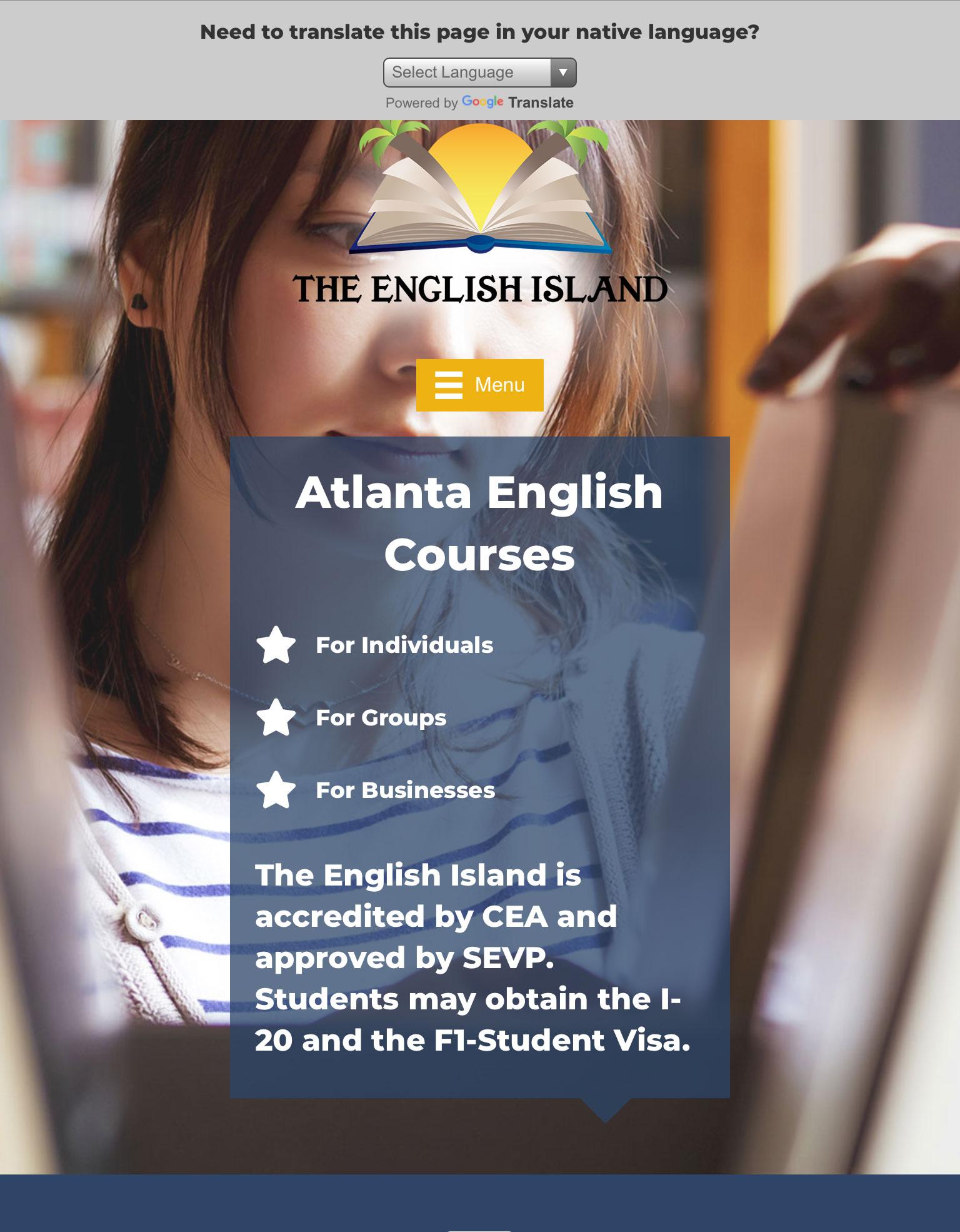 the-english-island-atlanta-tablet-web-design-screenshot