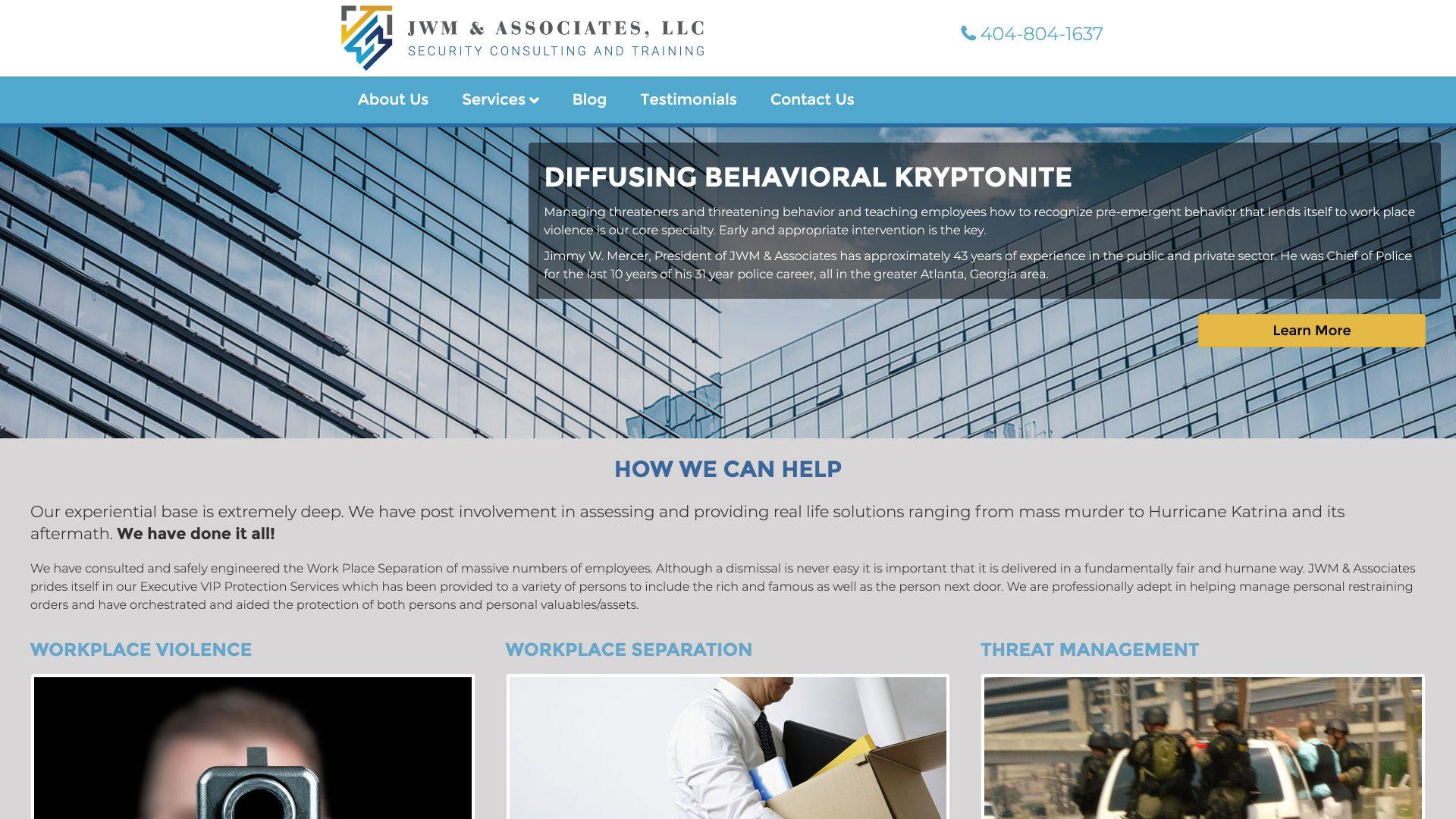 JWM & Associates (Woodstock) Desktop Web Design