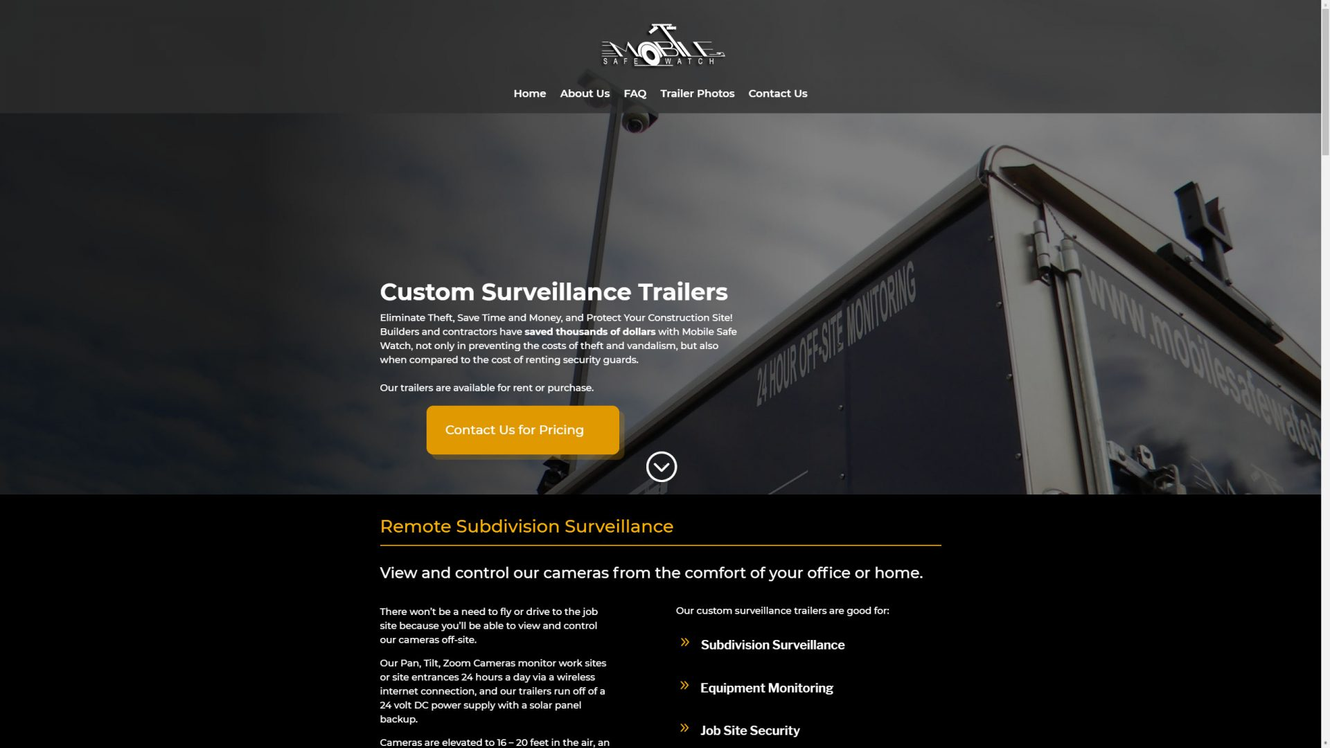 Mobile Safe Watch (Brooks, GA) Desktop Web Design