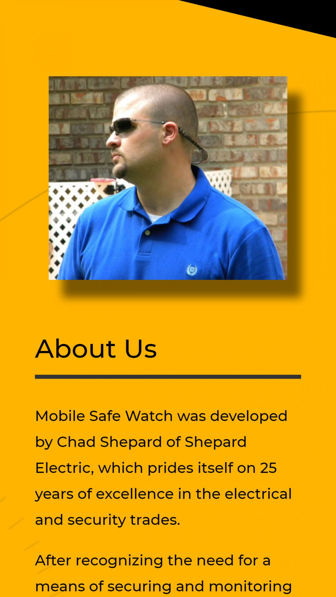 Mobile Safe Watch (Brooks, GA) Mobile Web Design