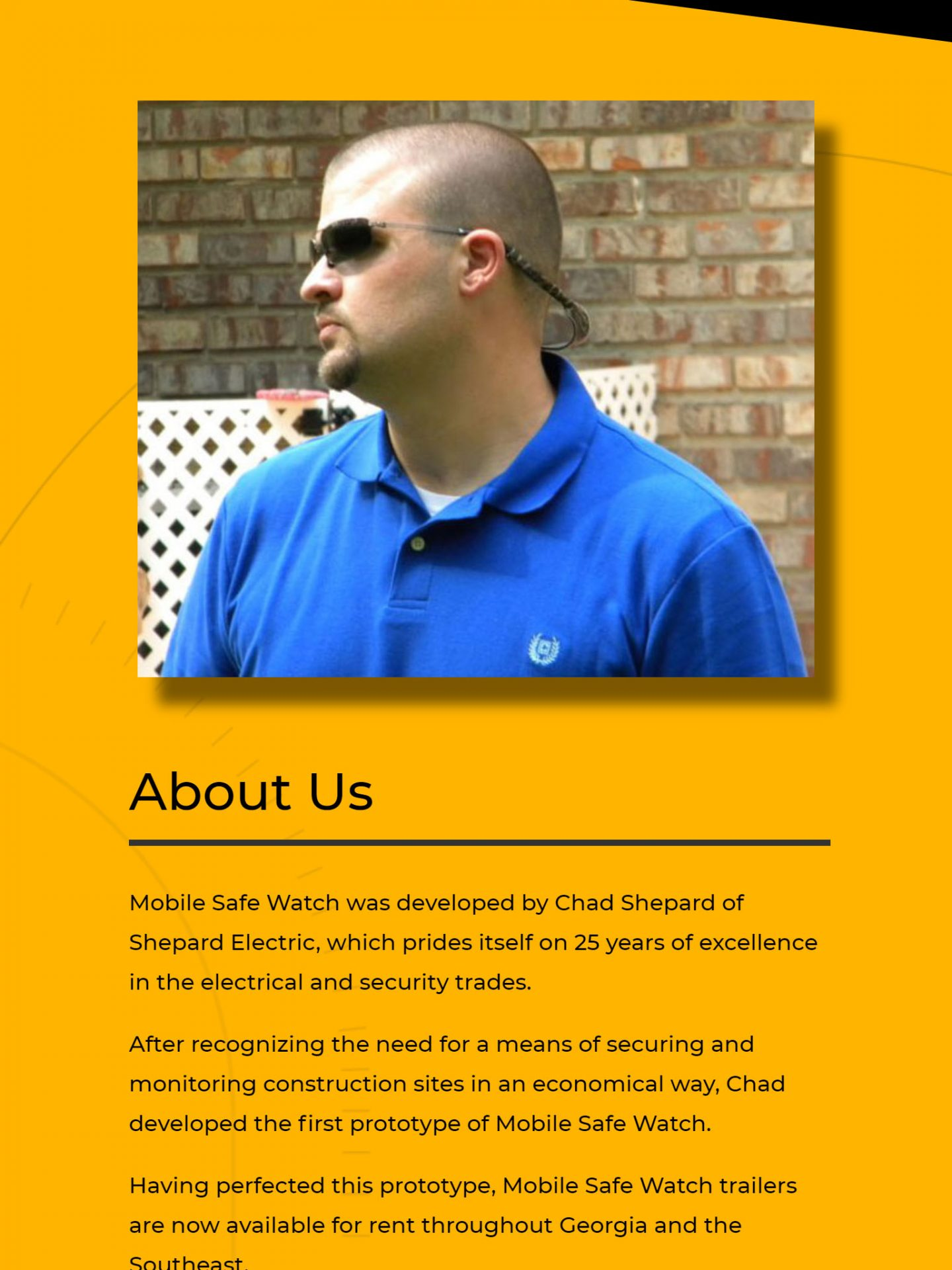 Mobile Safe Watch (Brooks, GA) Tablet Web Design