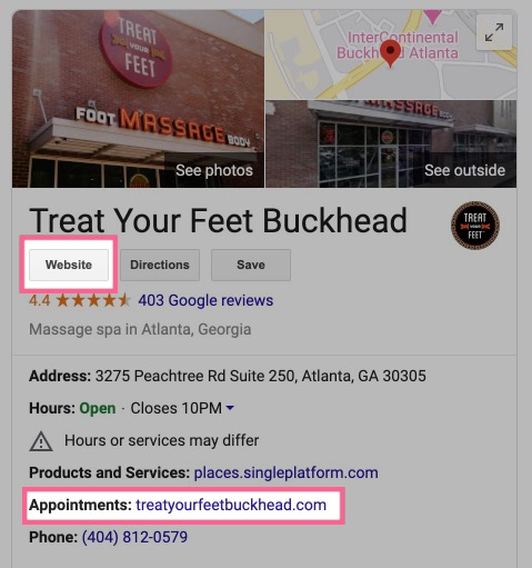 Google My Business Listing Links