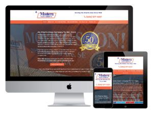 A Modern Glass (Atlanta, GA) Responsive Web Design