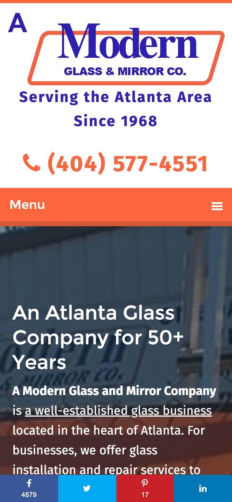 A Modern Glass (Atlanta, GA) Mobile Phone Web Design