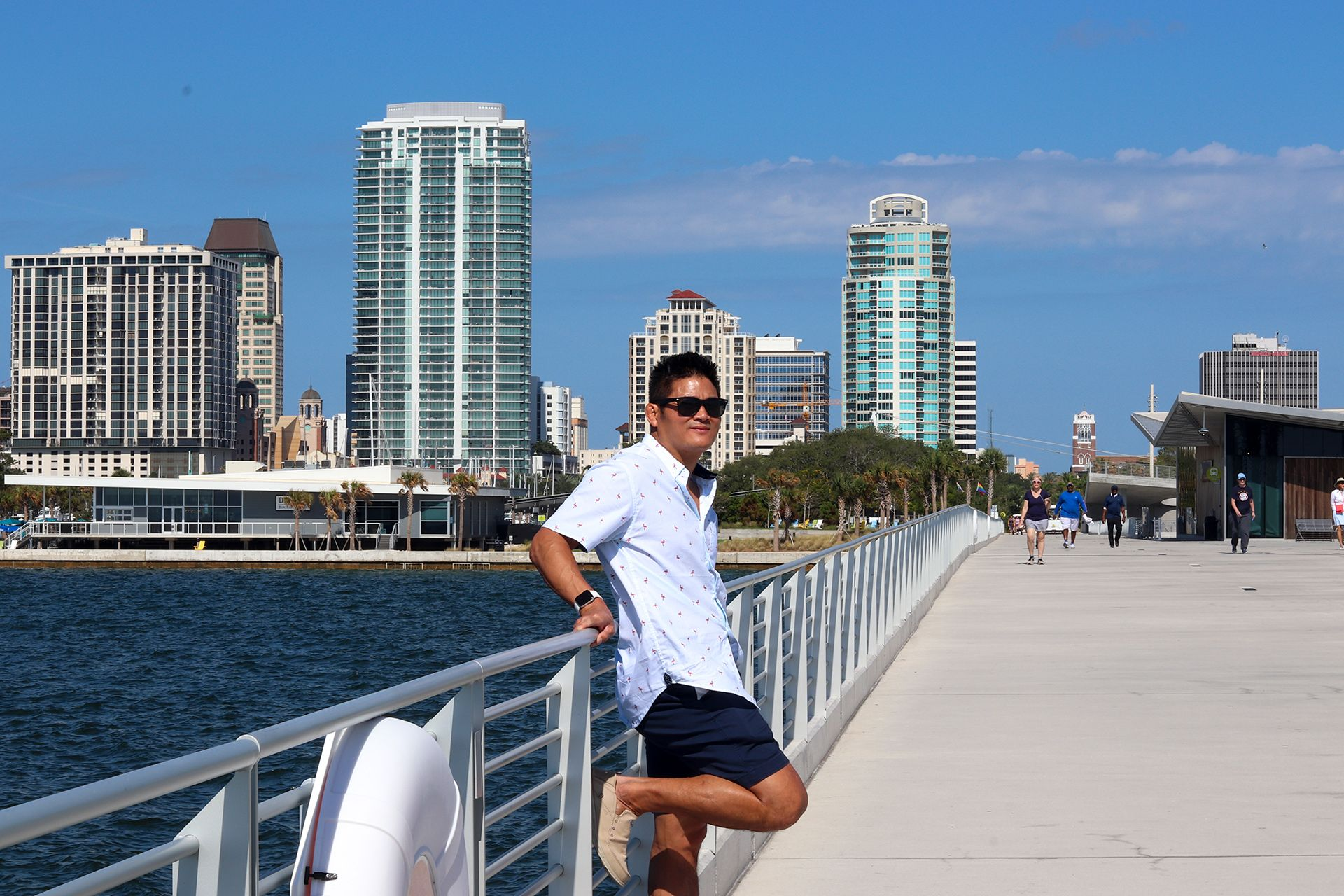 Tom Nguyen at the St. Petersburg Pier